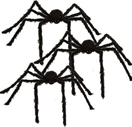 Amazon Com 63 Halloween Realistic Hairy Spiders 3 Pack Large Halloween Spider Props Scary Spiders With Giant Size For Indoor And Outdoor Decorations Toys Games