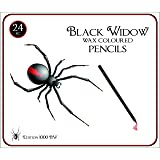 Black Widow Colored Pencils for Adults, the Best Color Pencil Set for Adult Coloring Books, A Quality 24 Piece Blackwood Drawing Kit Available to Use. New Black Widow Edition