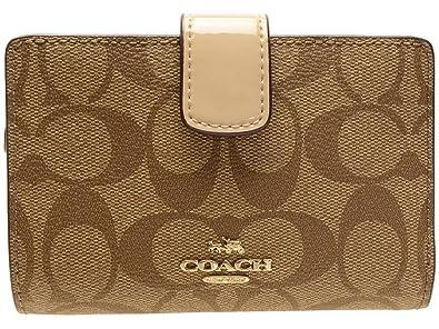 460cb48f01e6 [コーチ] COACH 財布 (二つ折り財布) F54023 カーキ×プラチナ IMCA9 シグネチャー