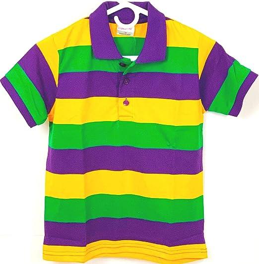 7ad8f355 Amazon.com: KAPLIN Child Mardi Gras Rugby PGG Shirt - Short Sleeve ...