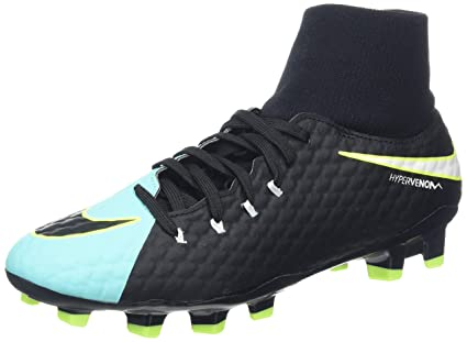f76003648 Nike New Women's Hypervenom Phelon III Dynamic Fit FG Soccer Cleat  Aqua/Black 8.5