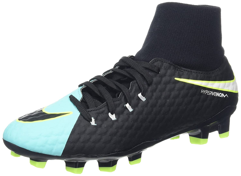 Nike New Womens Hypervenom Phelon III Dynamic Fit FG Soccer Cleat Aqua/Black 9