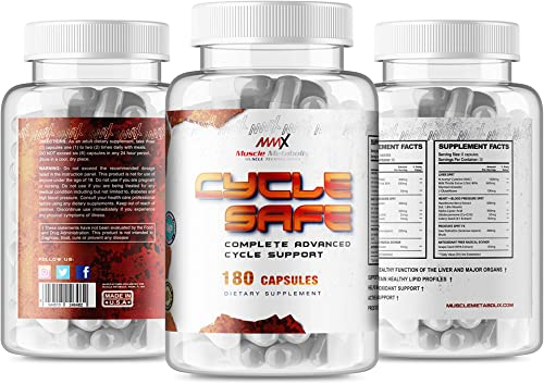 MMX Cycle Safe On Cycle Protection Liver Detox Heart and Blood Pressure Support Prostate Support with Saw Palmetto Antioxidant Grape Seed Extract 180 Capsules