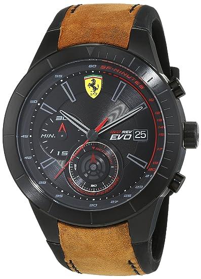 Ferrari 0830398 RedRev Evo - Reloj de pulsera para hombre