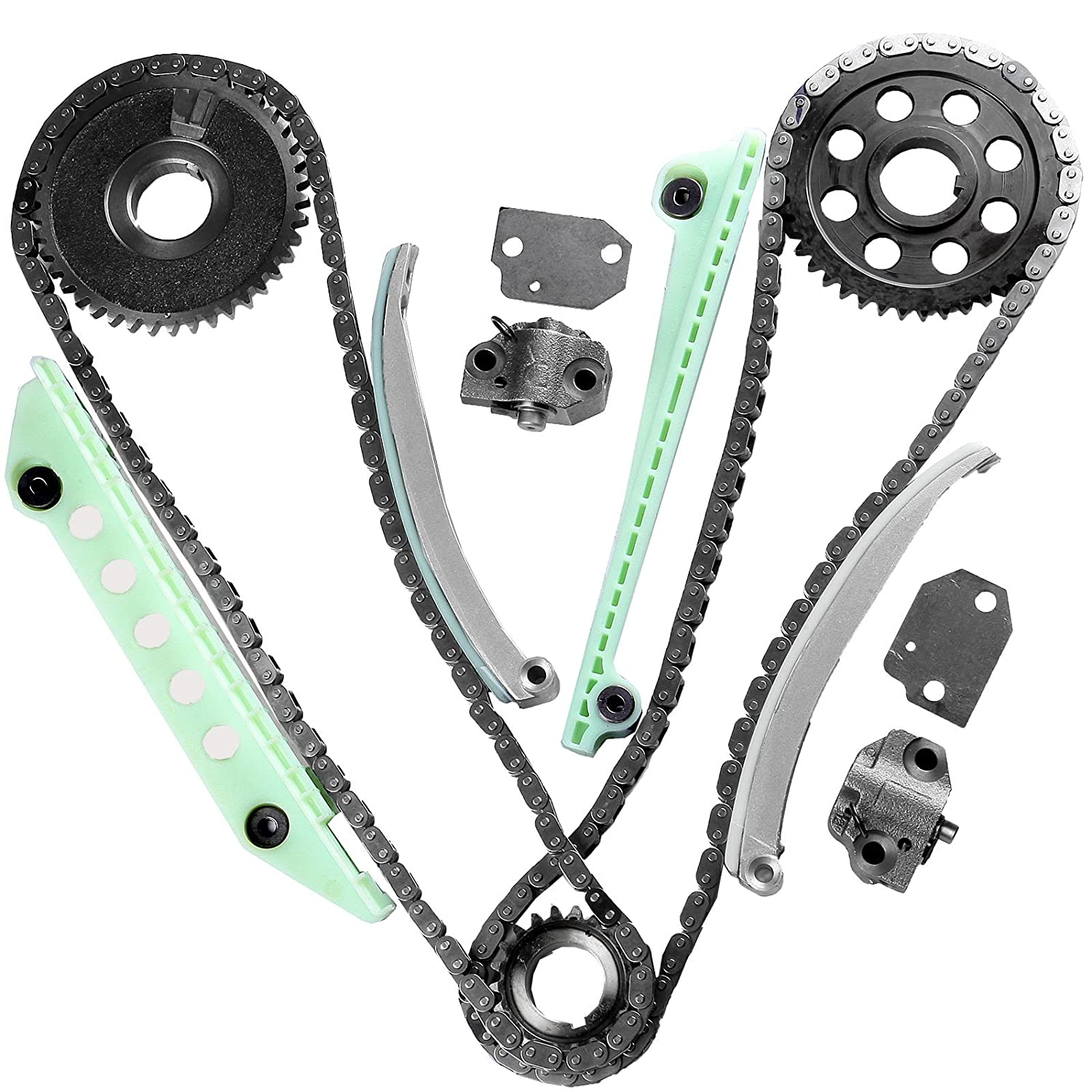 Eccpp Tk6046w Timing Chain Kit For 97 07 Ford E150 F150 2004 Explorer 4 0 F250 Expediton 46 281cid Windsor Kitcheck Fitment Automotive