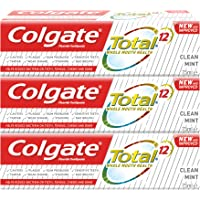 Colgate Total Clean Mint Toothpaste 12 Hour Protection - 3 x 75 ml