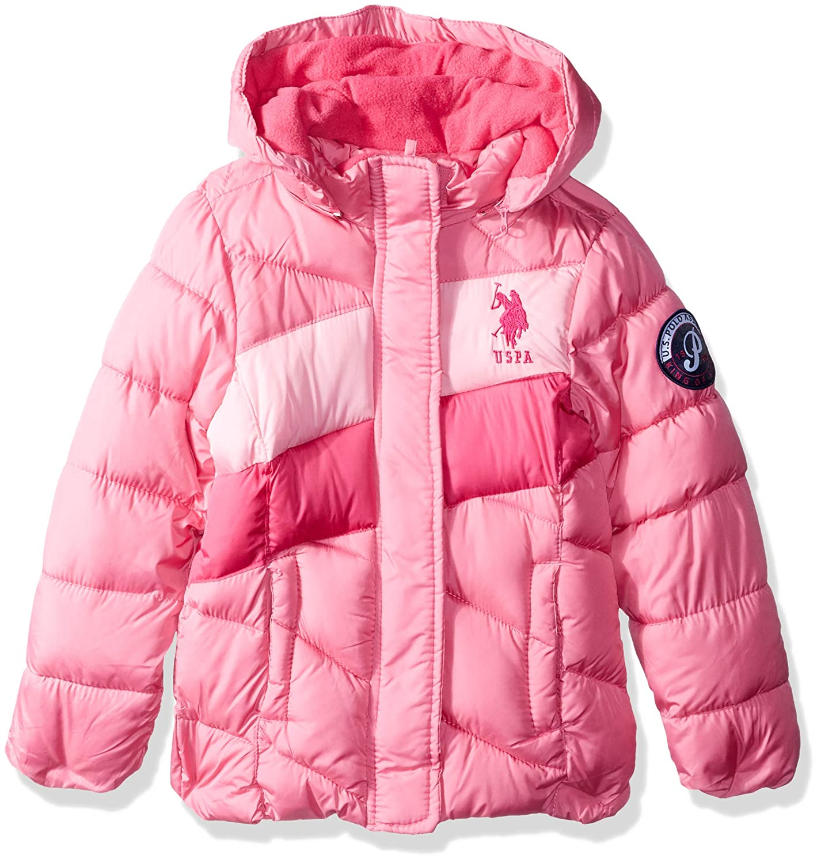 Polo Assn Girls Midweight Bubble Jacket US Polo Association O/_UB64H U.S