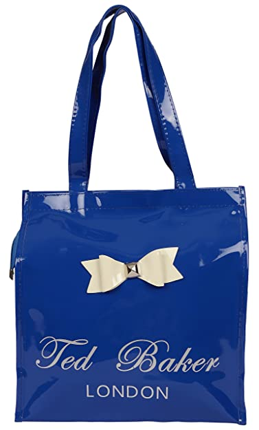 e0d6aec57 Trendifly Ted Baker Glossy PU Tote Bag for Women and Girls (Blue)   Amazon.in  Shoes   Handbags