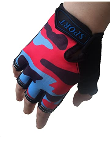 Kids Bike Gloves Cycling Sports Pair Youth Child Girls Boys Mountain 3 Colors UK