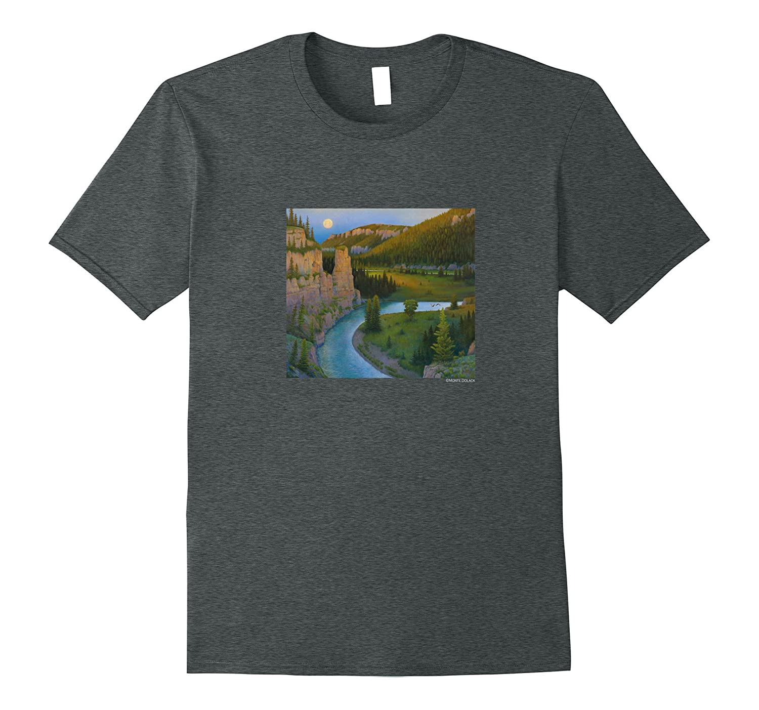 Monte Dolack Smith River T-shirt Montana-Art