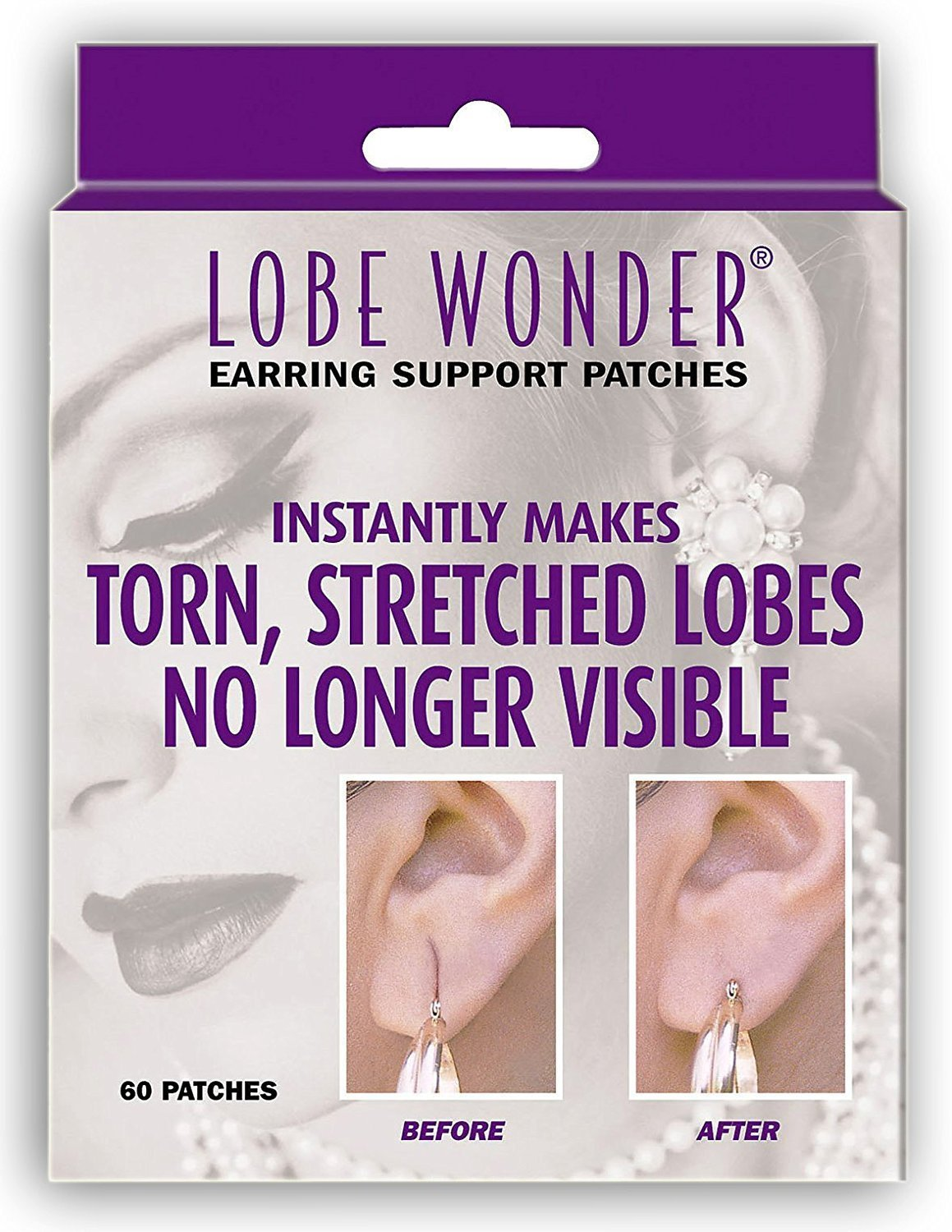 Lobe Wonder 300 Invisible Earring Ear-Lobe Support Patches