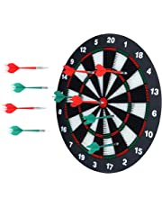 Portzon Unisex Youth Set, Office Relaxing Sport & Family Leisure Time Portzon Dart Board, 16.4 Inch with 6, 16.4''