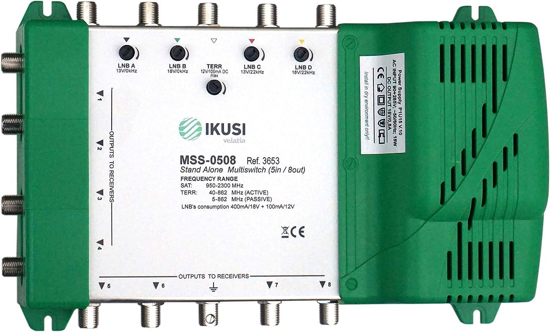 Ikusi Multiswitch FI 5 entradas x 8 Salidas MSS-0508: Amazon ...