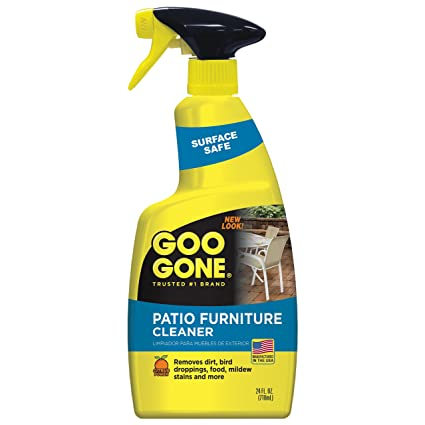 Goo Gone Patio Furniture Cleaner   Removes Dirt, Bird Droppings, Food,  Mildew Stains