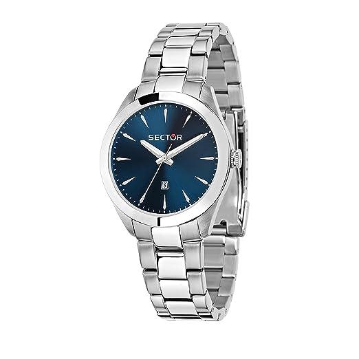 SECTOR NO LIMITS Reloj Analógico para Mujer de Cuarzo con Correa en Acero Inoxidable R3253588517: Amazon.es: Relojes