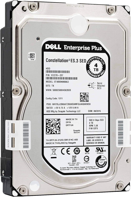 """DELL ENTERPRISE CLASS 4TB 7.2K RPM SATA 3.5"""" 6Gbps HARD DRIVE W/TRAY FOR PowerEdge R210 II R220 R310 R320 R410 R415 R420 R510 R515 R520 R710 R720 R720XD T110 II T310 T320 T410 T420 T620 T710 (Renewed)"""