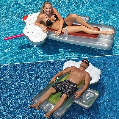 Swimline Beer Mug and Root Beer Mug Swimming Pool Floats Combo Pack: Toys & Games