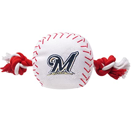4719ec06f MLB MILWAUKEE BREWERS Baseball Rope Toy for DOGS   CATS. Tough nylon