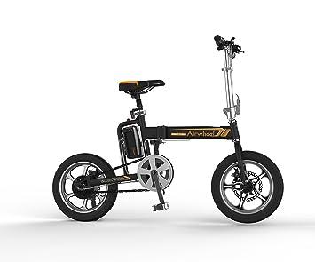 MyWay Brands eléctrico bicicleta plegable R5 Plus con marco de aluminio y Shimano, motor 36
