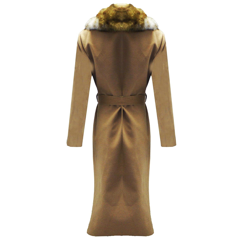 Womens Ladies Cascada dustier piel sintética cuello chaqueta ...