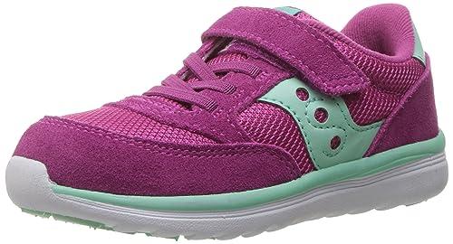 238f19af9 Saucony Kids Baby Jazz Lite Running Shoes, Pink/Turq, 4 M US Toddler