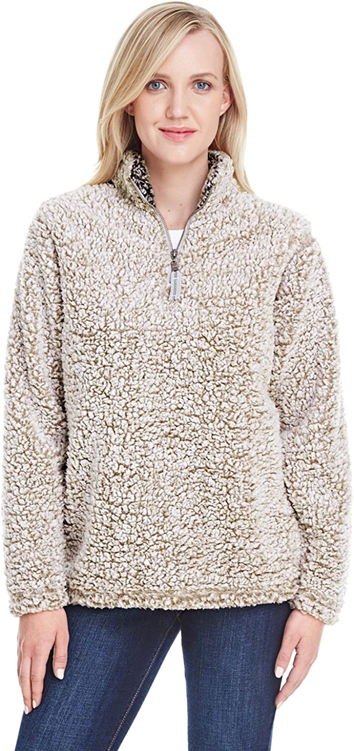 J. America Cheap mail order specialty store JA8451 Ladies' Epic Quarter-Zip Max 64% OFF Heathe Oatmeal Sherpa