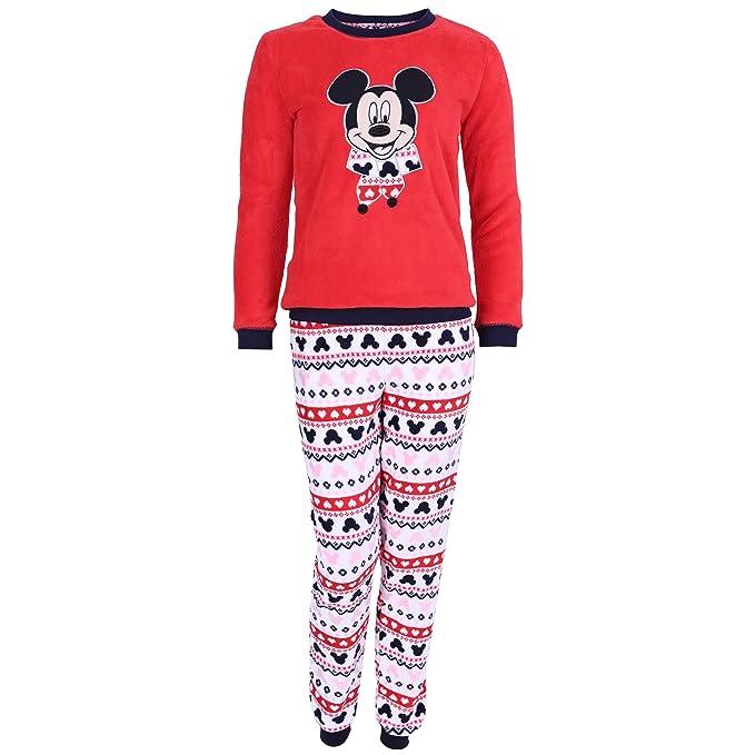 Pijama Rojo de Forro Polar Mickey Mouse - X-Small
