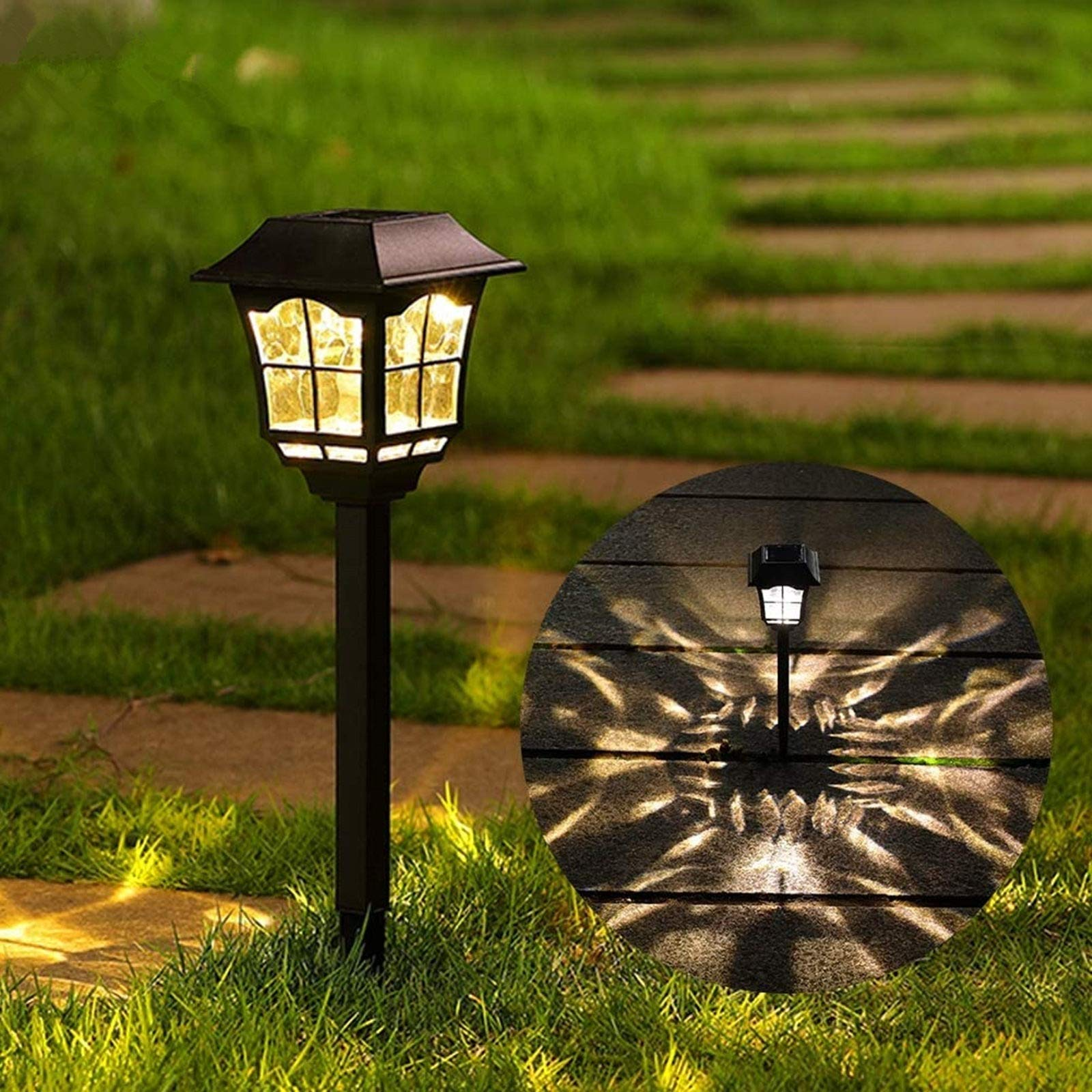 Maggift 8 Lumens Solar Pathway Lights Solar Garden Lights Outdoor Solar Landscape Lights for Lawn Patio Yard Pathway Walkway, 6 Pack