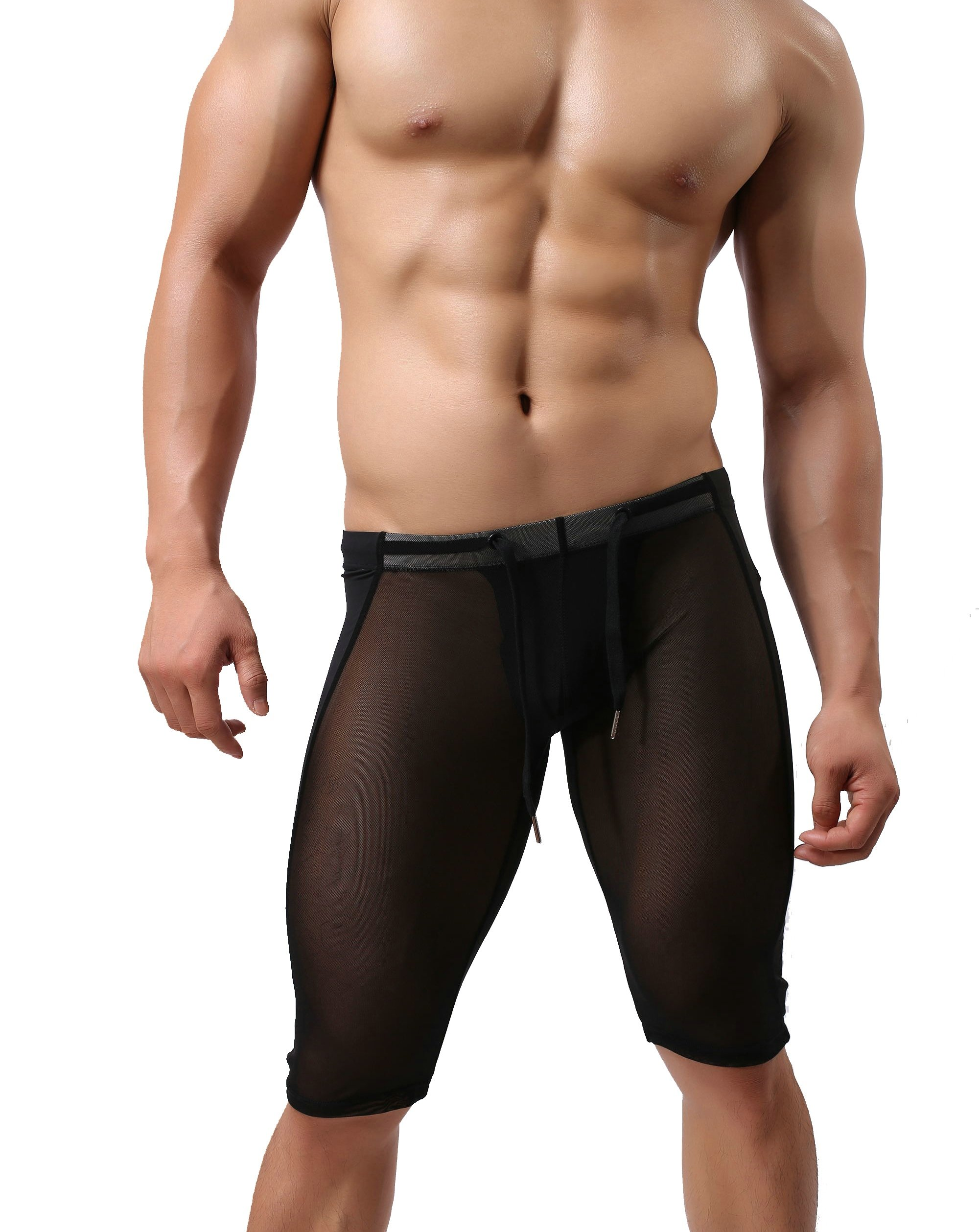 MuscleMate® UltraHot Men's Compression Shorts, Hot See Shorts Multi-Functional Men's Shorts, Fun Foreplay Ultimate Sexiness(Black, S)