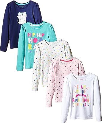 Primark - Pack de 5 Camisetas de Manga Larga, Talla 6-7 años, 122 cm: Amazon.es: Ropa y accesorios