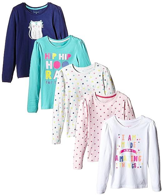 Primark Pack de 5 Camisetas de Manga Larga, Talla 6-7 Años, 122 cm: Amazon.es: Ropa y accesorios