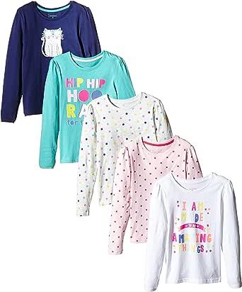 Primark - Pack de 5 Camisetas de Manga Larga, Talla 6-7 años ...