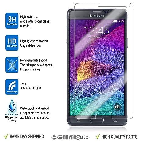 ACENIX® Real vidrio templado Film Protector de pantalla LCD para Samsung Galaxy Note 4,