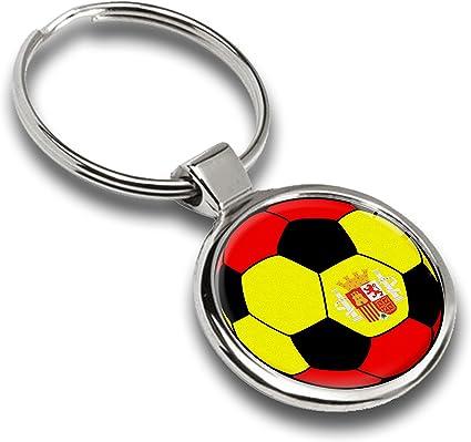 Llavero de fútbol balón Bandera España Spain metal Keyring Llave ...