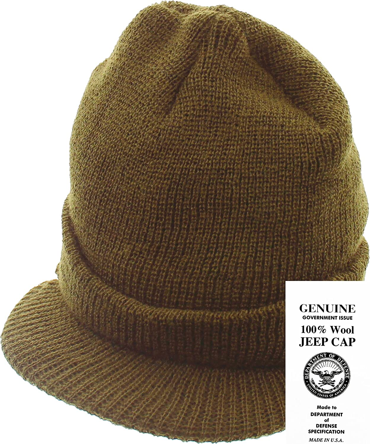 e3b2ef46 Amazon.com: Genuine GI Official Military Wool Cold Weather Winter Knit Hat  Jeep Watch Cap (Black): Clothing