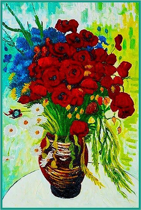 Jarrón de amapolas margaritas por Vincent van Gogh de punto de ...