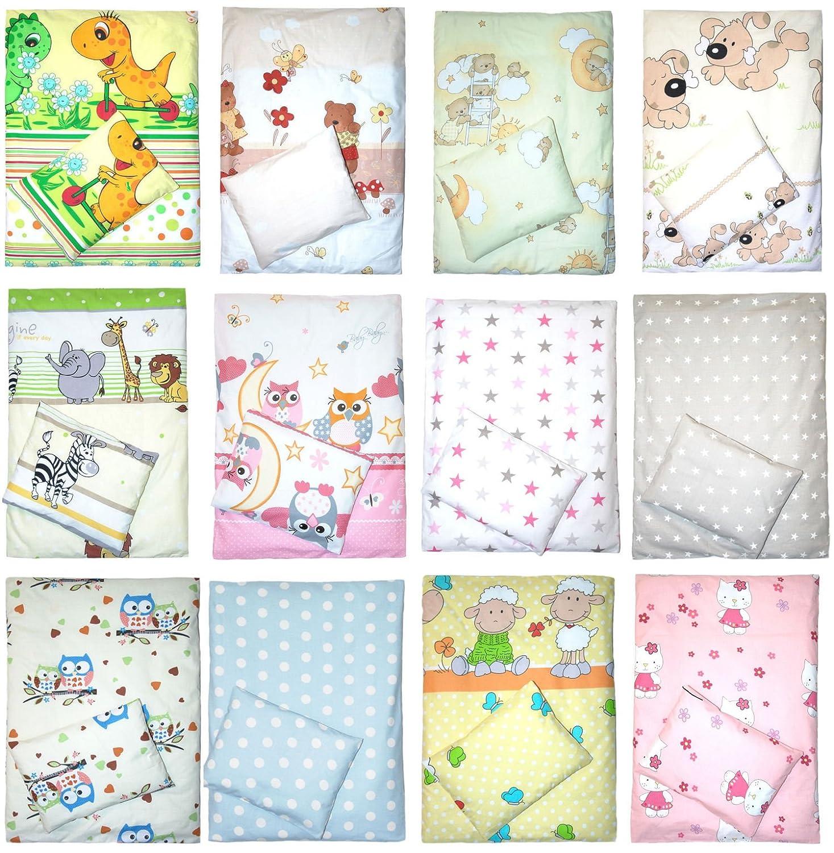 4 teiliges Kinderwagenset Decke Kissen Bez/üge D01
