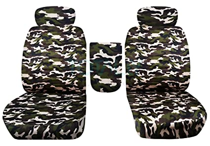 Outstanding 2001 2003 Ford F 150 Camo Truck Bucket Seat Covers With Center Armrest Adjustable Headrests W Wo Integrated Seat Belts Brown Camouflage 16 Prints Caraccident5 Cool Chair Designs And Ideas Caraccident5Info