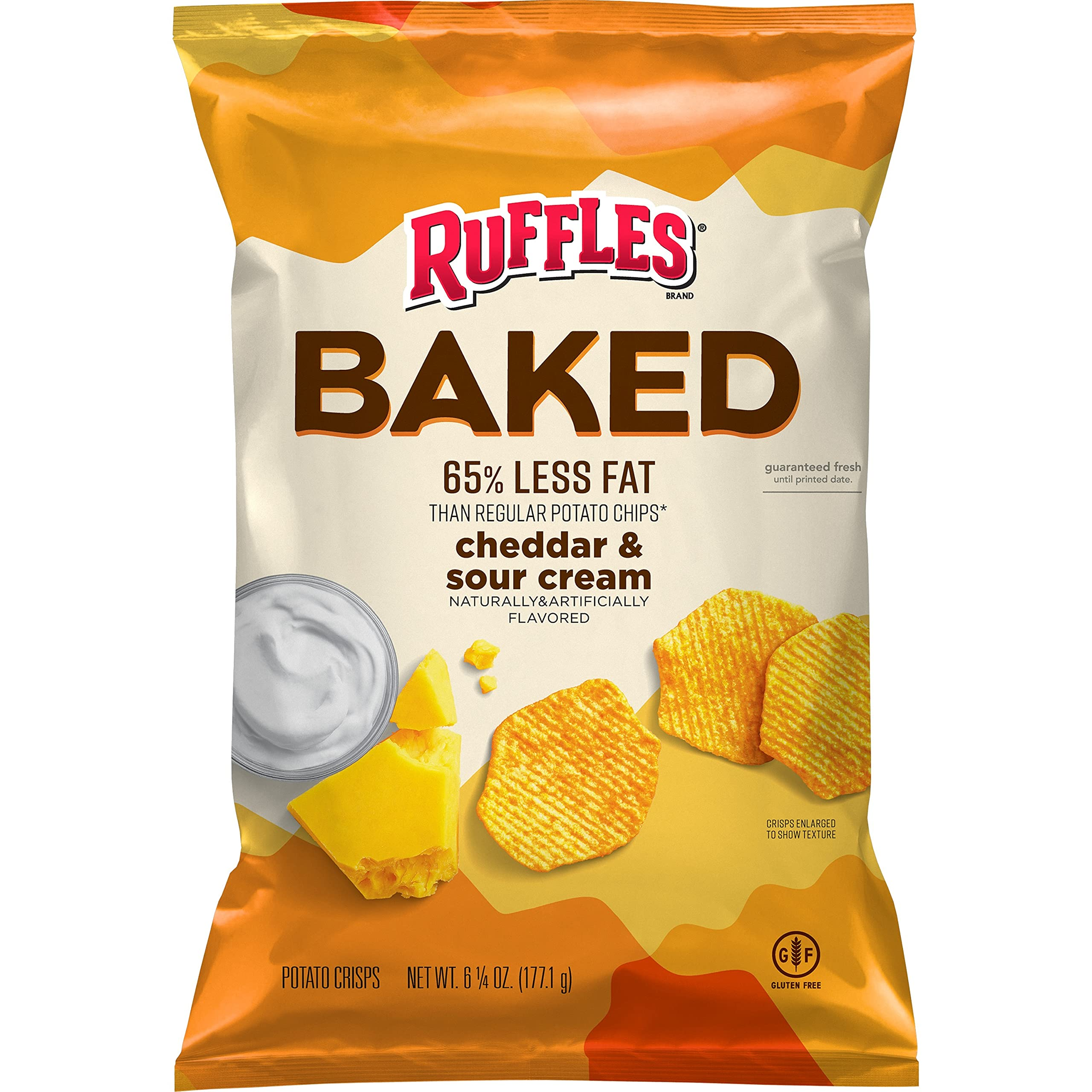 Baked Oven Baked Ruffles Cheddar Sour Cream, 6.25 Ounce