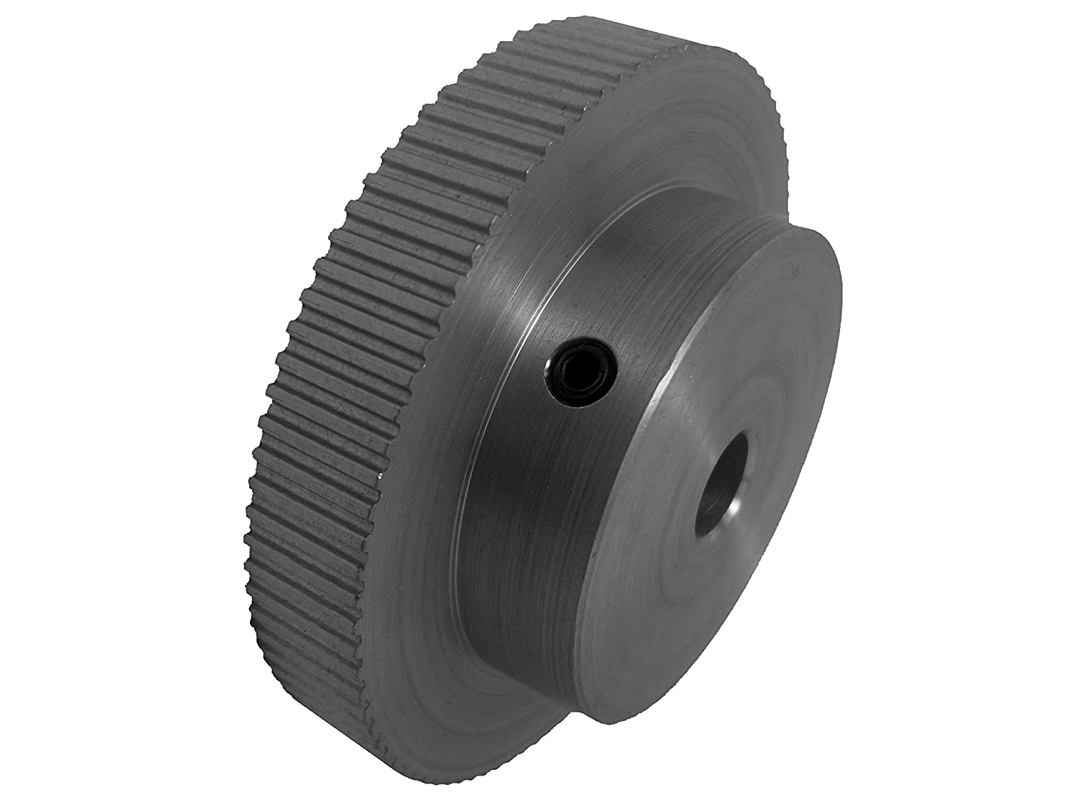 MXL Pitch for 0.25 Wide Belts 90 Teeth 1 Flange and Hub Serves as Second Flange BandB Manufacturing 90MP025M6A8 Timing Pulley