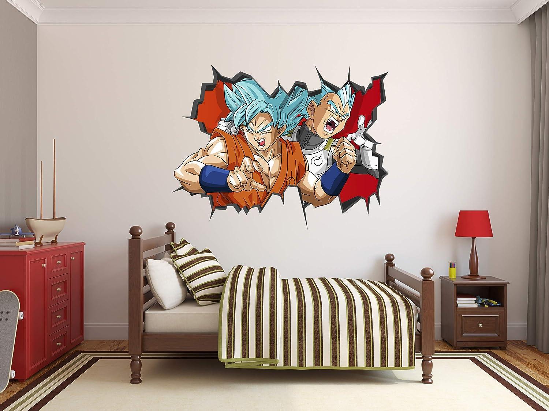 Dragon Ball Super Goku Vegeta Wall Decal 3D Sticker Vinyl Decor Mural Kids (36