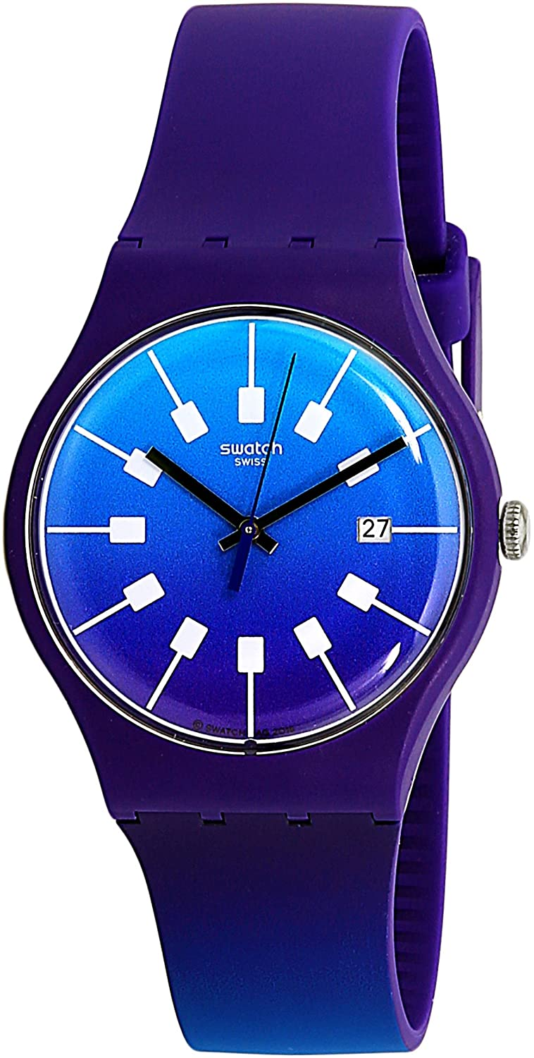 Swatch SUOV400 Unisex Crazy Sky Swiss Quartz Fashion Watch