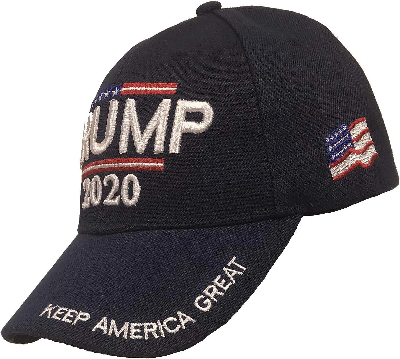 Trump 2020 Hat - Keep America Great 3D Embroidery American Flag Donald Trump MAGA Baseball Cap - Navy: Clothing
