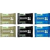 Squarebar Organic Protein Bar Variety Pack of 6