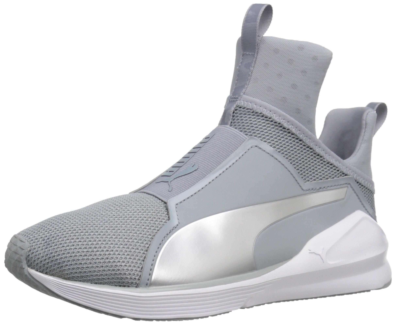 PUMA Women's Fierce Core Cross-Trainer Shoe, Quarry White/Polyurethane, 8 M US