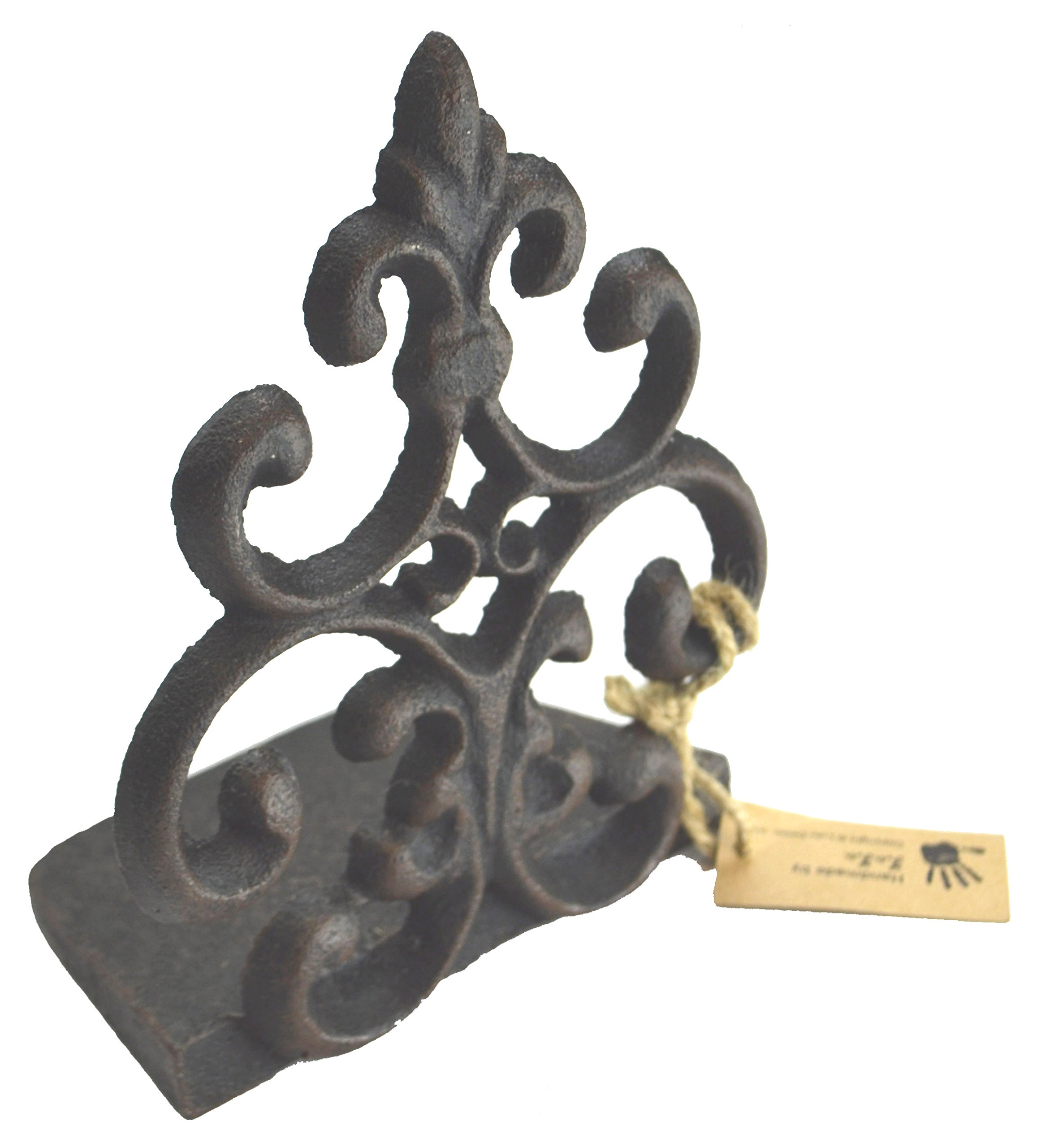 Lulu Decor, Cast Iron Fleur De Lis Door Stop, Door Stopper in Antique Black Finish, Beautiful and Useful Product (1) by Lulu Decor