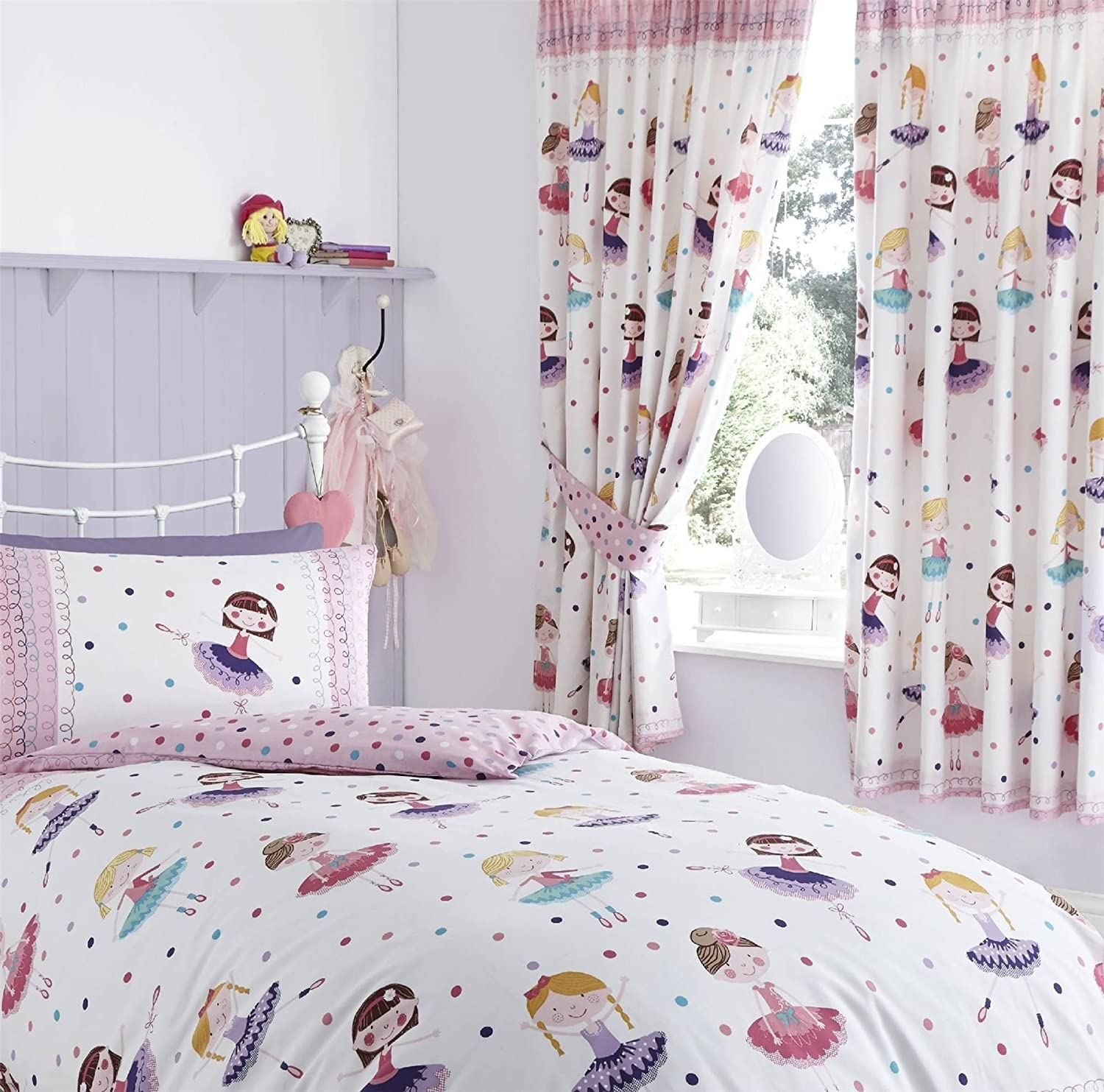 unicorn itm elephants princess flamingo owl ballerina curtain amp girls curtains drop