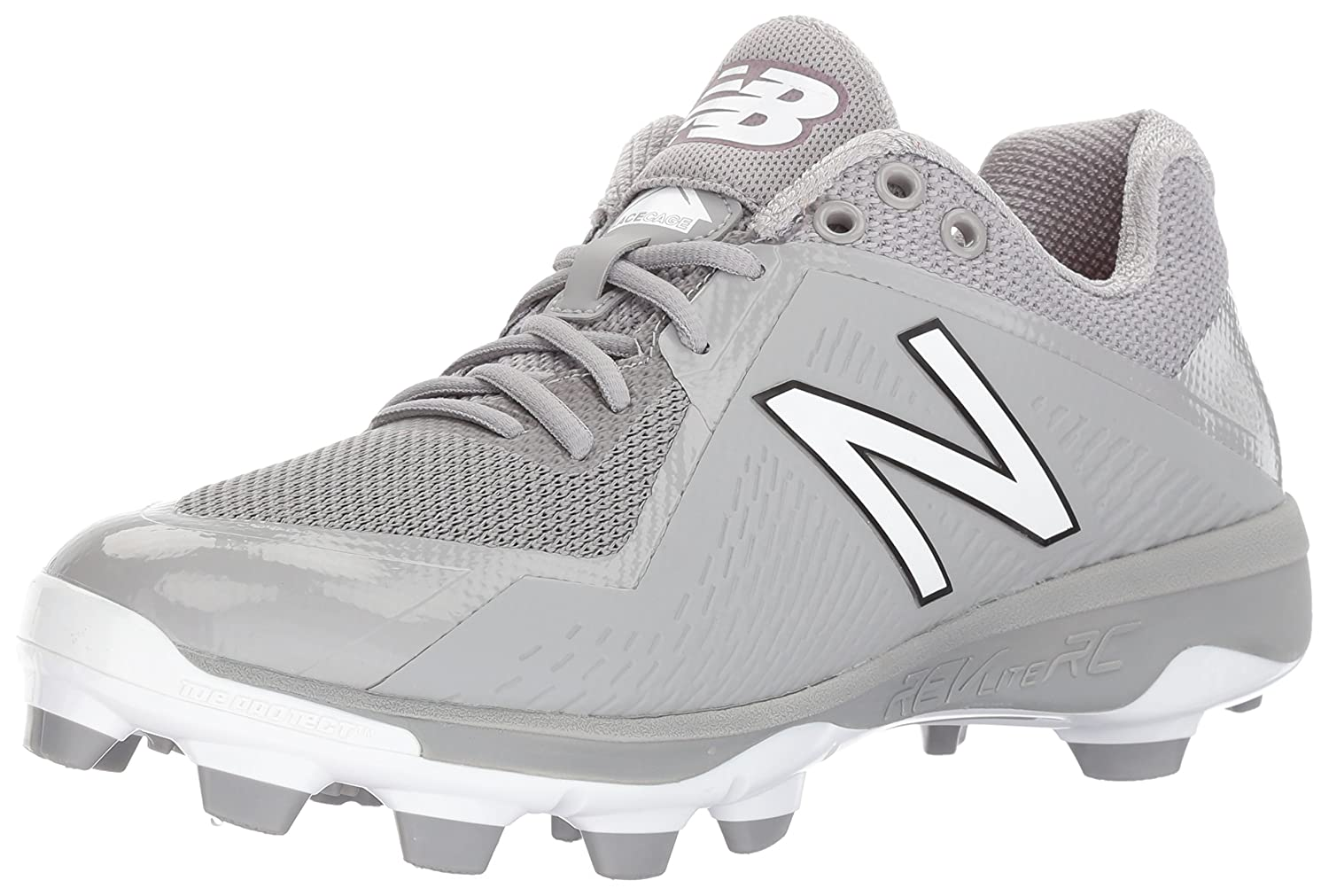 New Balance Men's PL4040v4 Molded Baseball schuhe, grau, 15 D US