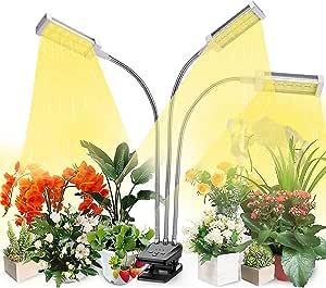 Plant Grow Light, VOGEK LED Growing Light Full Spectrum for Indoor Plants, Plant Growing Lamps for Seedlings, 3 Switch Modes 10 Brightness Settings