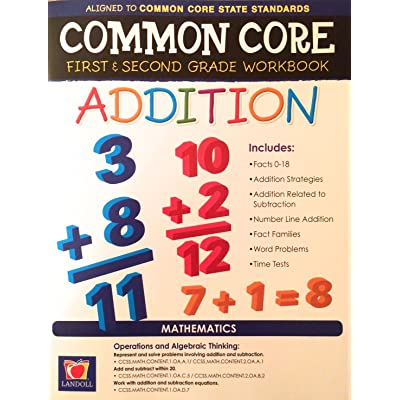 Common Core Addition First and Second Grade Workbook: Toys & Games